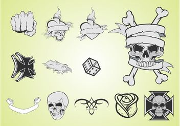 Tattoo Layouts - vector gratuit #150103