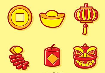Cartoon Chinese Lunar New Year Vectors - Free vector #150173