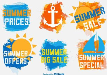 Summer Sale Labels - Kostenloses vector #150323