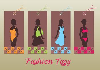 Fashion Tags - vector gratuit #150353