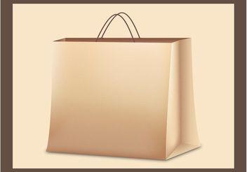 Paper Bag Vector - vector gratuit #150393