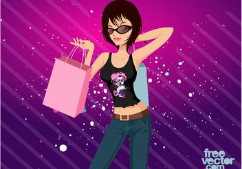 Shopping Girl - Kostenloses vector #150413
