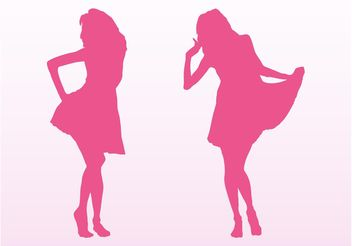 Vector Fashion Girls - Free vector #150613