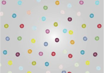 Buttons Pattern - vector gratuit #150633