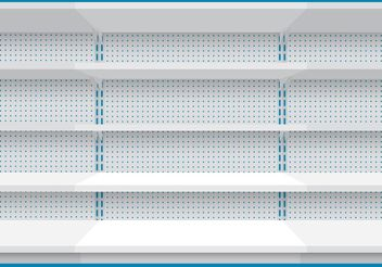 Wall Of Shelves - vector gratuit #150643