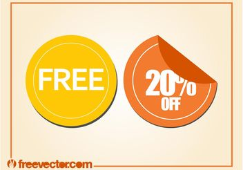 Promotion Labels - vector #150703 gratis