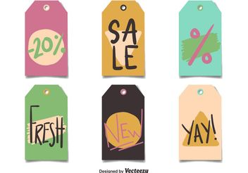 Vector Price Tags Flat Style - vector gratuit #150713