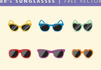 80's Sunglasses Vector Free - бесплатный vector #150783