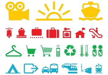 Colorful Icons Set - Free vector #150793