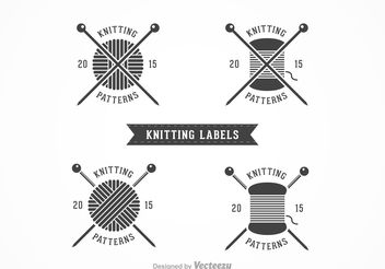 Free Knitting Vector Labels - бесплатный vector #150893