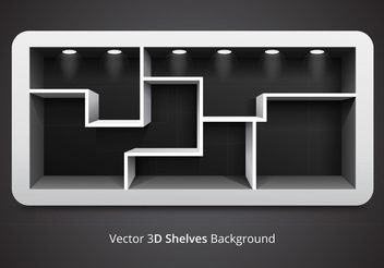 Free Vector 3D Shelves Background - Free vector #150903