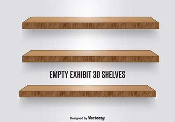 Wood Shelves - vector gratuit #150913