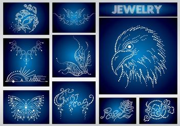 Jewels Vectors - vector #150943 gratis