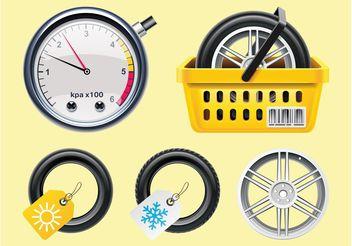 Tires Vectors - Free vector #150973