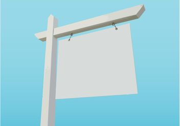 Blank Sign - vector gratuit #151043