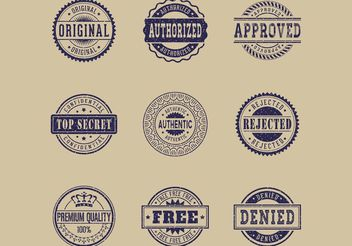 Free Commercial Grunge Rubber Stamps Vector - бесплатный vector #151053