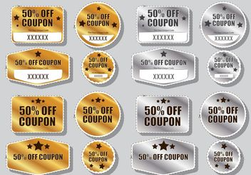 Discount Coupon Vectors - Free vector #151103