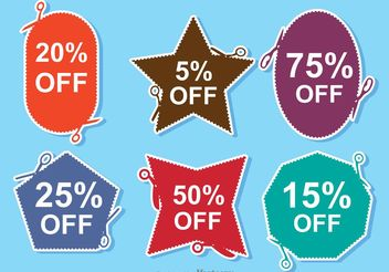 Scissor Coupon Discount Vectors - vector gratuit #151113