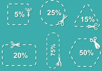 Simple Scissor Discount Coupon Vector - Free vector #151133