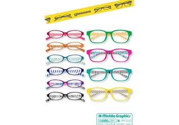 Glasses Vector Set - Kostenloses vector #151243