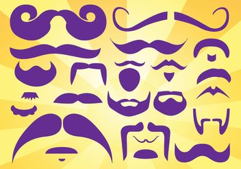 Beards Moustaches Vectors - vector gratuit #151313