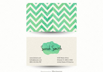 Free Chevron Business Card Vector Template - бесплатный vector #151433