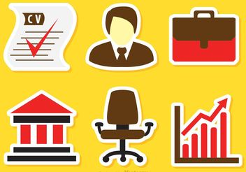 Job Business Icons Vectors - Free vector #151443