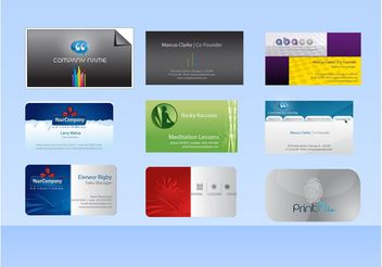 Vector Business Card Templates - vector gratuit #151523