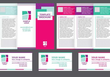 Business Fold Brochure Vector - бесплатный vector #151573