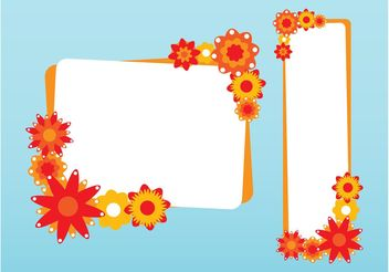 Floral Card Templates - Free vector #151583