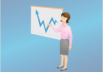 Business Woman - vector gratuit #151603