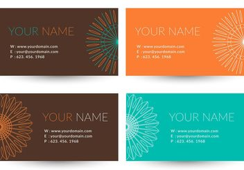 Free Trendy Business Vector Card - бесплатный vector #151773