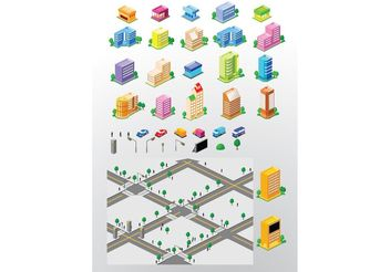 City Building Vectors - бесплатный vector #151783