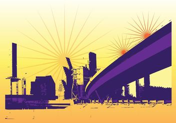 Urban Background Graphics - Free vector #151793
