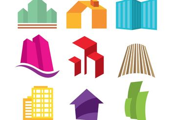 Real Estate Logos - vector #151843 gratis