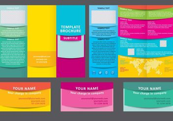 Colorful Fold Brochure Vector Template - Free vector #151903