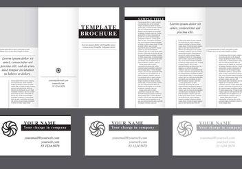 Minimal Fold Brochure Vector - vector #151933 gratis