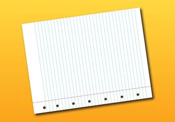 Notebook Page Vector - Free vector #152003