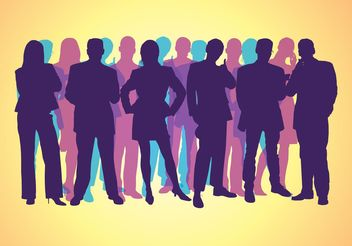 Corporate People Silhouettes - vector gratuit #152073