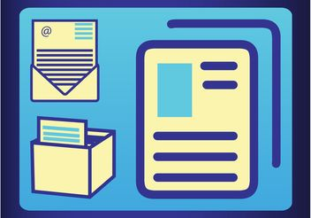 Mail And Documents - vector gratuit #152133