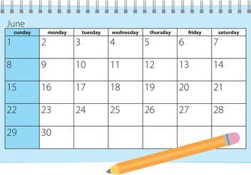 Calendar Vector - vector gratuit #152223