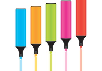 Marker Pen 02 - vector gratuit #152233