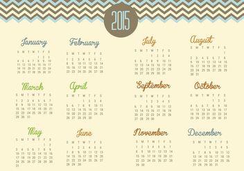 Chevron 2015 Calendar Vector - Kostenloses vector #152253