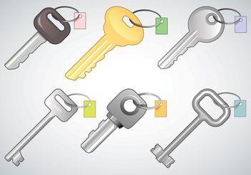Free Keys Vectors - vector #152413 gratis