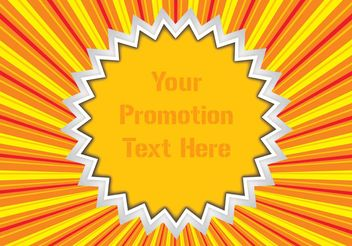 Promotion Vector Sticker - vector gratuit #152453