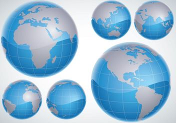 3D Globes - Free vector #152503