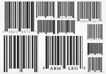 Barcode Vectors - Free vector #152513