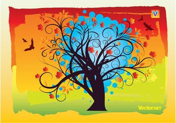 Autumn Tree - Free vector #152583