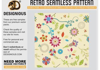 Cute Flowers Wallpaper Pattern - vector #152603 gratis