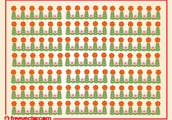 Stylized Flowers Pattern - Free vector #152673